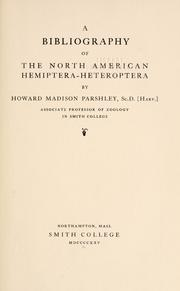 A bibliography of the North American Hemiptera-Heteroptera.