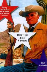 Before the storm by Rick Perlstein