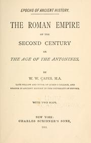The Roman empire of the second century by W. W. Capes