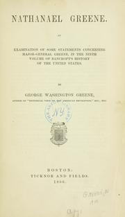 Nathanael Greene by Greene, George Washington