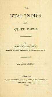 The West Indies, and other poems by Montgomery, James