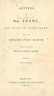Cover of: Letters of Mrs. Adams by Abigail Adams