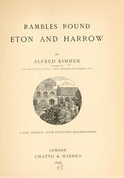 Rambles Round Eton And Harrow PDF