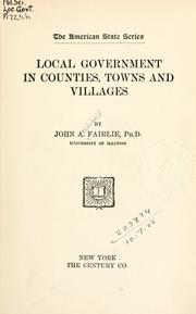 Local government in counties, towns and villages PDF