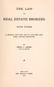 The law of real estate brokers PDF