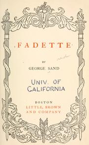 La petite Fadette by George Sand