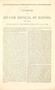 Non-interference by Congress with slavery in the territories by Douglas, Stephen Arnold