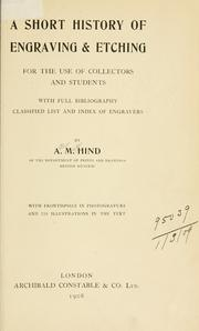 Short history of engraving & etching by Hind, Arthur Mayger