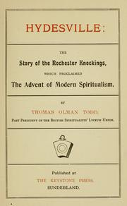 Hydesville: the story of the Rochester knockings, which proclaimed the advent of modern spiritualism PDF