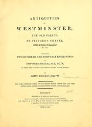 Antiquities of Westminster by John Thomas Smith