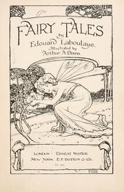 Cover of: Fairy tales by Edouard Laboulaye