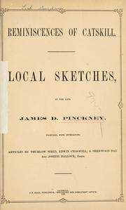 Reminiscences of Catskill by James D. Pinckney