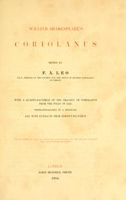 William Shakespeare's Coriolanus by William Shakespeare