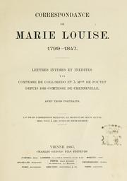 Correspondance de Marie Louise, 1799-1847