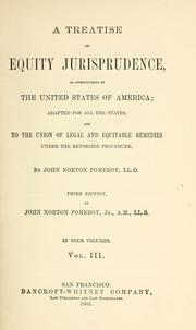 A treatise on equity jurisprudence by Pomeroy, John Norton