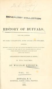 An authentic and comprehensive history of Buffalo by William Ketchum