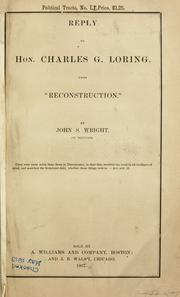 Reply to Hon. Charles G. Loring, upon Reconstruction. PDF