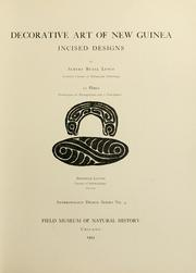 Cover of: Decorative art of New Guinea by Albert Buell Lewis