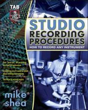 Studio Recording Procedures PDF