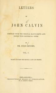 Letters of John Calvin by Jean Calvin