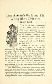 Last of army's rank and file whose blood drenched Kansas soil PDF