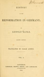 Deutsche Geschichte im Zeitalter der Reformation by Leopold von Ranke