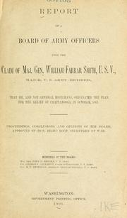 Report of a Board of army officers upon the claim of Maj. Gen. William Farrar Smith PDF
