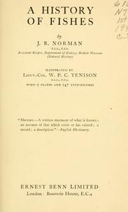 A history of fishes by J. R. Norman