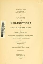 Catalogue of the Coleoptera of America, north of Mexico