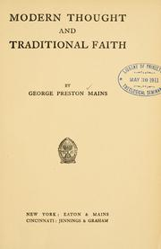 Modern thought and traditional faith PDF
