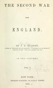The second war with England by Joel Tyler Headley