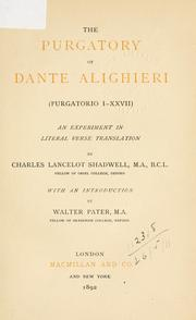 Cover of: Purgatory by Dante Alighieri