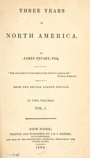 Three years in North America by Stuart, James