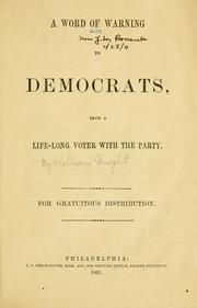 A word of warning to Democrats PDF
