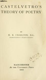 Castelvetro's theory of poetry PDF
