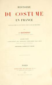 Histoire du costume en France depuis les 18e si©Łec