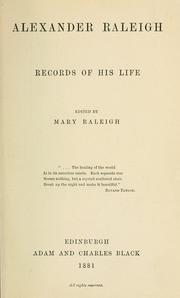 Cover of: Alexander Raleigh by Mary Gifford Raleigh