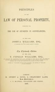 Principles of the law of personal property, intended for the use of students in conveyancing PDF