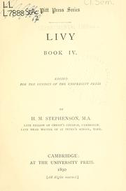 Cover of: Book 4 by Titus Livius