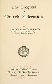 The progress of church federation PDF