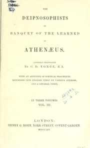 The Deipnosophists by Athenaeus of Naucratis