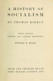 A history of socialism by Thomas Kirkup