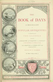 The book of days by Chambers, Robert
