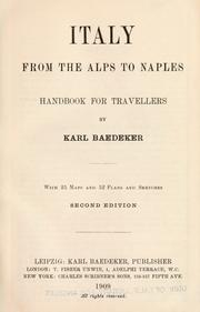 Cover of: Italy from the Alps to Naples by Karl Baedeker (Firm)
