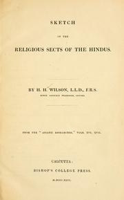 Sketch of the religious sects of the Hindus by Wilson, H. H.