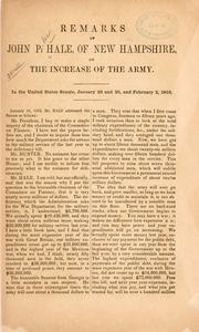 Remarks of John P. Hale, of New Hampshire, on the increase of the army PDF