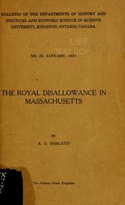 The royal disallowance in Massachusetts PDF
