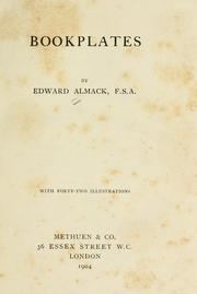 Bookplates by Almack, Edward