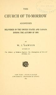 The church of to-morrow by William James Dawson
