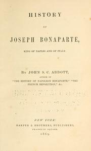 History of Joseph Bonaparte by John S. C. Abbott